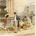 Photo:Postcard of a flower-seller in Piccadilly. 1910.